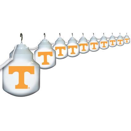 Collegiate Patio Globe Lights, 10 light set - Tennessee