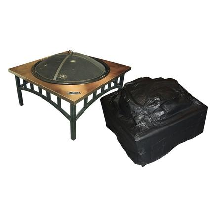Square Fire Pit Vinyl Cover-38