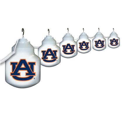 Collegiate Patio Globe Lights, 6 light sets-Auburn