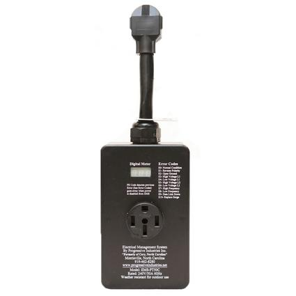 Portable 50-amp Surge Protector with Voltage Protection