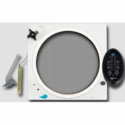 Fan-Tastic Fan Upgrade - Reverse Kit, Rain Sensor, Thermostat and Remote, Off-White