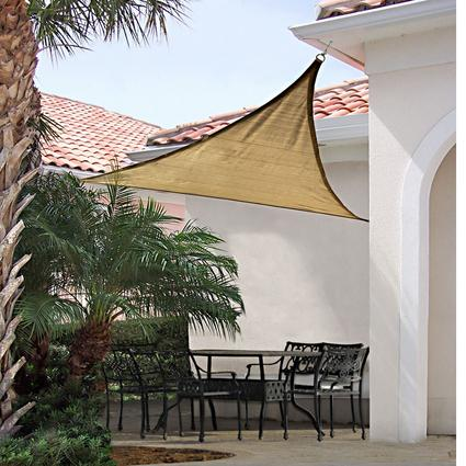 ShadeLogic Sun Shade Sail, Square- Sand 12' x 12'
