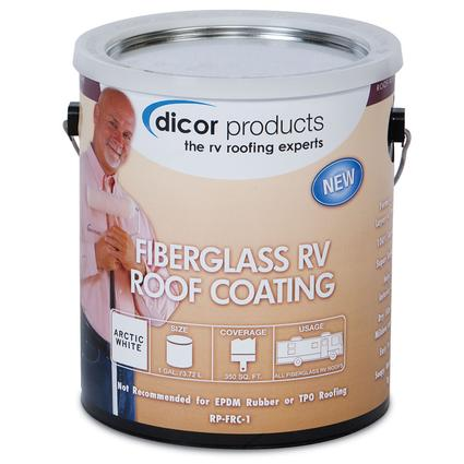 Dicor Fiberglass RV Roof Coating - Gallon