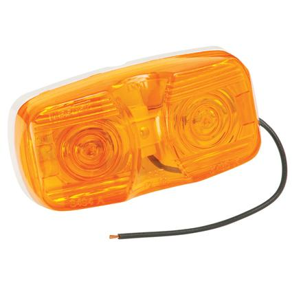 Dual Bulb Clearance/Side Marker Lights- Amber