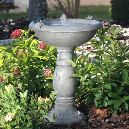 Country Gardens Solar Birdbath