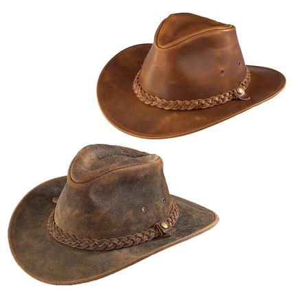 Outback Crushable Leather Hat