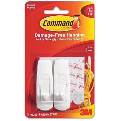 Command Medium Utility Hook - 2 Pack