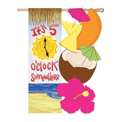 5 O'clock Somewhere Flag