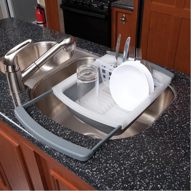 Image Prepworks Collapsible Over The Sink Dish Drainer. To Enlarge The  Image,