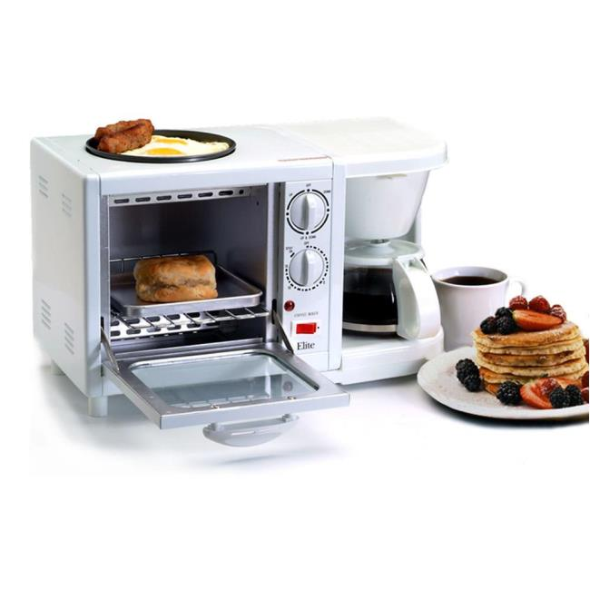 3-in-1 Multifunction Breakfast Deluxe Center - White - Maxi-Matic ...