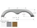 R-Vision Tandem Fifth Wheel Fender Skirt FS782 - Polar White