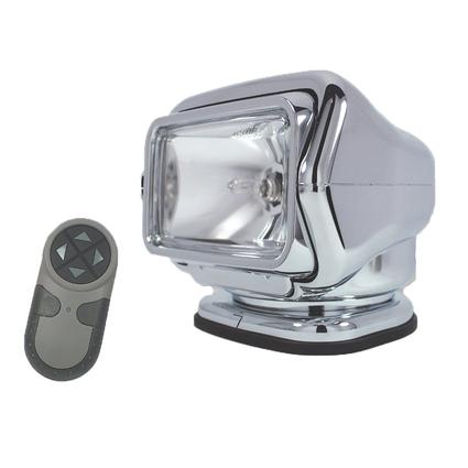 GoLight Stryker Permanent Mount Model with Wireless Hand-Held Remote – Chrome