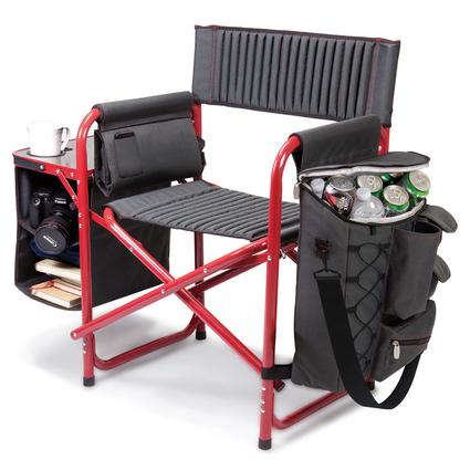 Fusion Chair- Dark Gray with Red