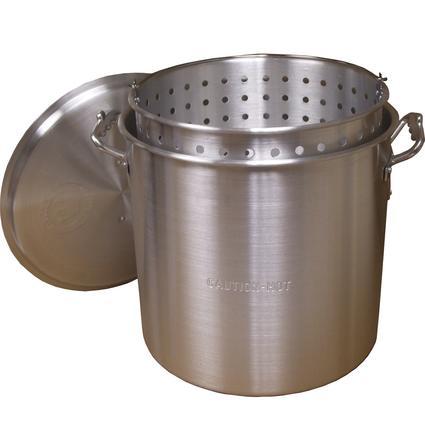 32 Quart Aluminum Pot w/ Lid and Basket