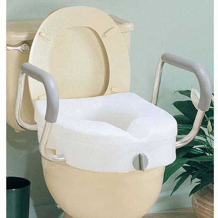 EZ Lock Raised Toilet Seat with Arms