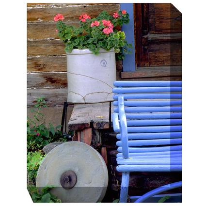 Art - Blue Bench and Crock