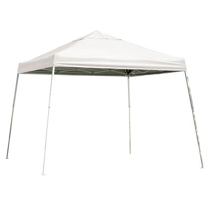 12X12 Sports Series Slant Leg Canopy - White
