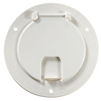 Deluxe Cable Hatch - Round, Polar White