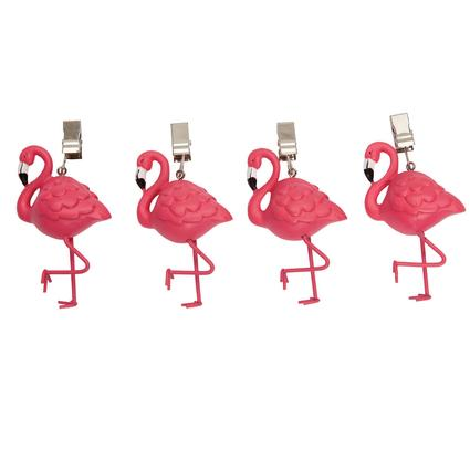 Flamingo Tablecloth Weights - 4 Pack