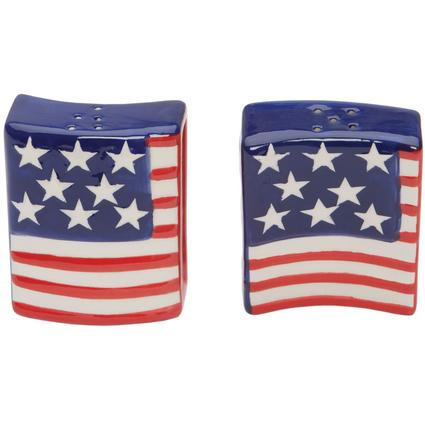 Flag Salt and Pepper Shakers
