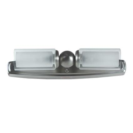 Mirage Dual Candle Vanity Light - Brushed Nickel Finish