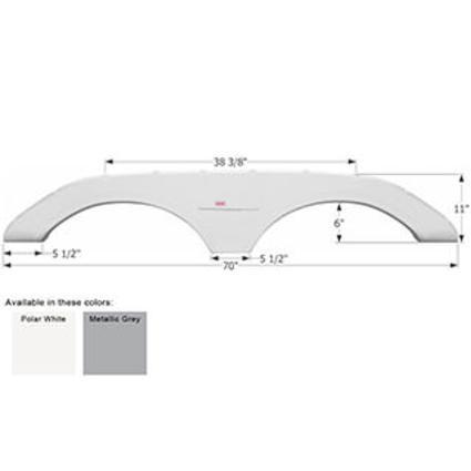 Keystone Tandem Fender Skirt FS1772 - Polar White