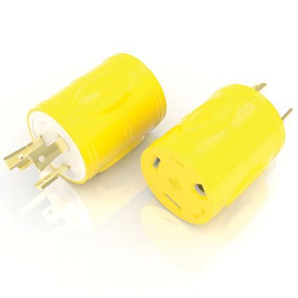 30 Amp RV Female to 30 Amp Twist Lock Male Generator Adapter