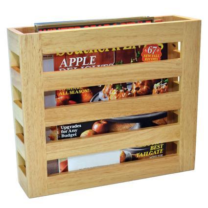Modern Wood Magazine Rack - Oak