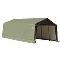 Peak Style Shelter 12 x 20 x 8 Green Cover