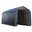 Peak Style Shelter 15 x 36 x 16 Gray Cover