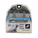 Double White Halogen Head Light Bulb, H3 - 2 pack