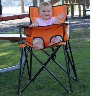 Bon Baby Go Anywhere Highchair, Orange