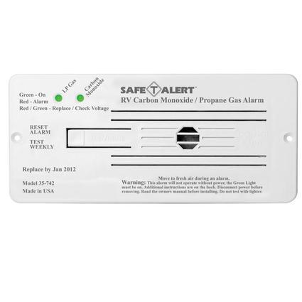 Safe-T-Alert 35 Series Flush Mount Dual LP Carbon Monoxide Alarm White