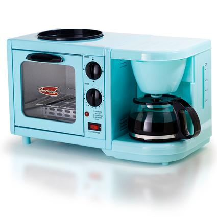 3-in-1 Multifunction Breakfast Deluxe Center - Blue