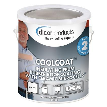 Coolcoat Rubber Roof Ceramic Coating Gallon Dicor Rp