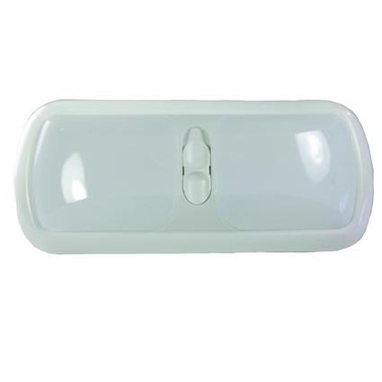 Double 12-volt Dome Light, White