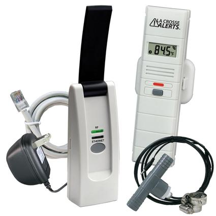 Hot Tub Kit Temperature Humidity Sensor with Threaded Wet Probe Tee Adapter