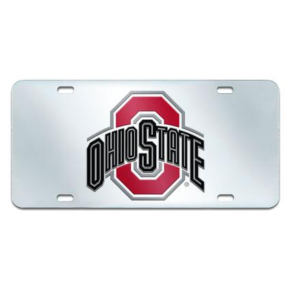 Fanmats Mirrored Team License Plate - Ohio State