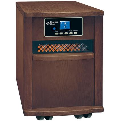 Extra-Large Infrared Cabinet Heater - Walnut Finish