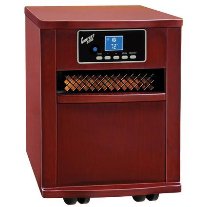 Extra-Large Infrared Cabinet Heater - Cherry Finish