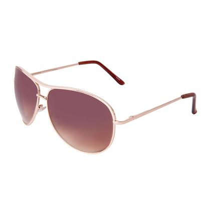 Ladies' Gold Aviator Sunglasses