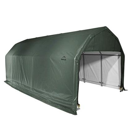 Barn Shelter 12 x 24 x 9 Green Cover