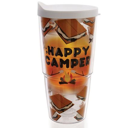Happy Camper S'mores Tumblers, 24 oz.