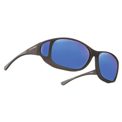 Cocoons Style Line MX Sunglasses - Black with Blue Mirror Lens