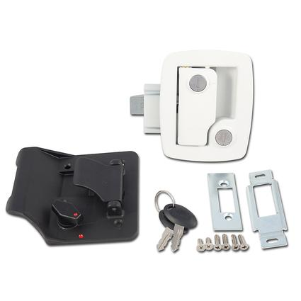 Bauer Travel Trailer Lock with Keys - White