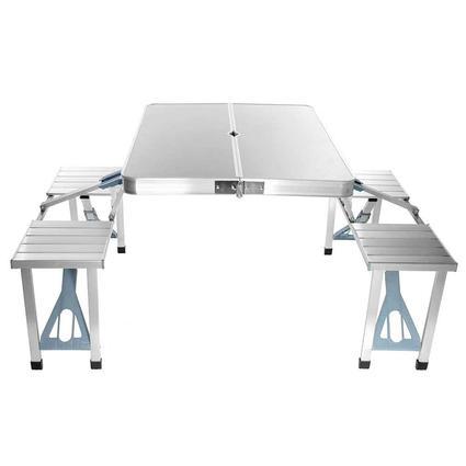 Aluminum 4-Seater Folding Picnic Table