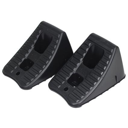 Heavy-Duty Wheel Chocks, Set of 2