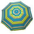 Lime Striped Beach Umbrella with Travel Bag, 7
