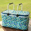 Mosaic Tile Insulated Picnic Basket