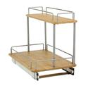 Bamboo Sliding Organizer, Two-Tier